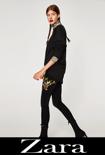 Embroidered jeans Zara fall winter women 1