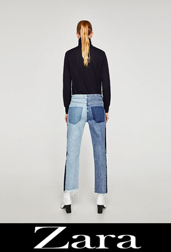 Embroidered jeans Zara fall winter women 3