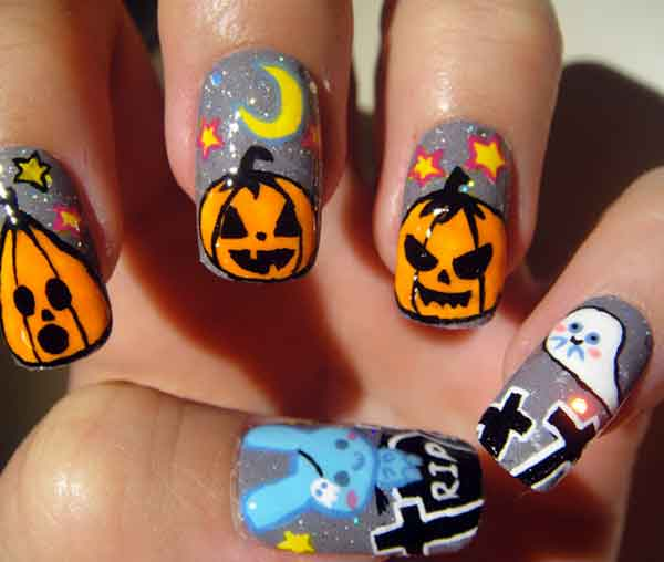 New-ideas-on-accessories-and-costumes-for-Halloween-night-images-decorate-nails-1