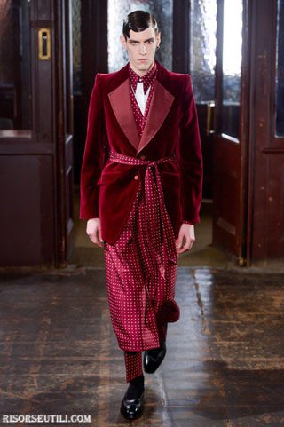 Alexander McQueen new collection fall winter clothing men dressing gowns