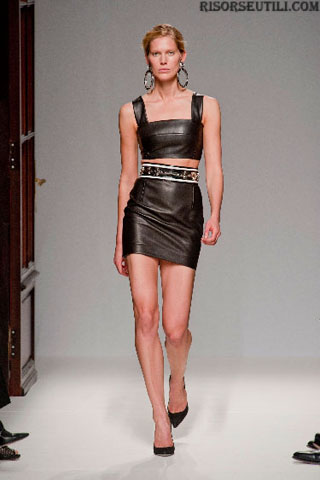 Balmain fashion dresses leather new collection spring summer 2013