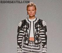 Balmain fashion dresses new collection spring summer 2013 show