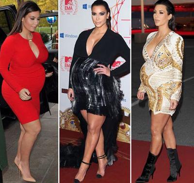 News Kim Kardashian lifestyle pregnancy in red photo dress 8