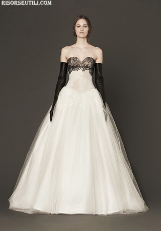 Vera Wang collection bridal black and white 2014 dresses 1