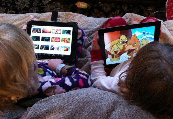 World-new-age-technology-kids-under-medical-care-for-iPad