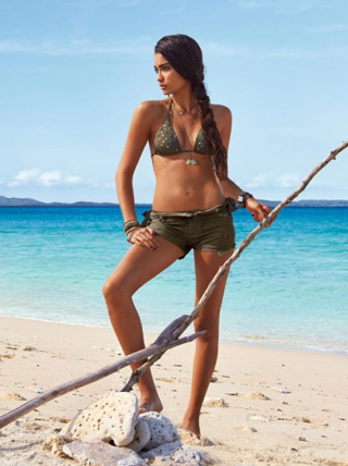Swimsuit-shorts-military-green-triangle-and-Calzedonia-Summer-2013