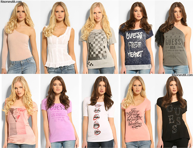 T-shirts Guess spring summer 2014 womenswear