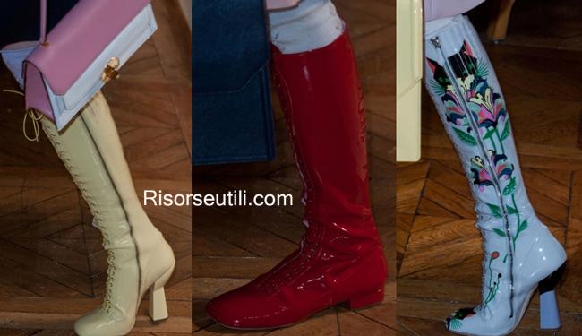 Boots Miu Miu spring summer 2014 womenswear