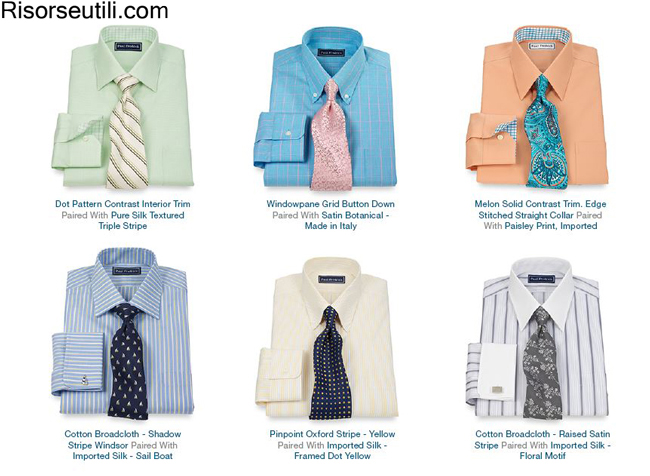 Dress shirts Paul Fredrick summer 2014