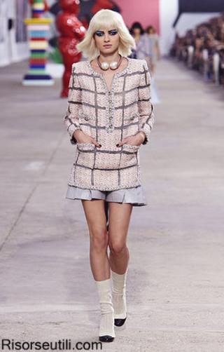 Fashion brand Chanel summer 2014 womens wear trends designer