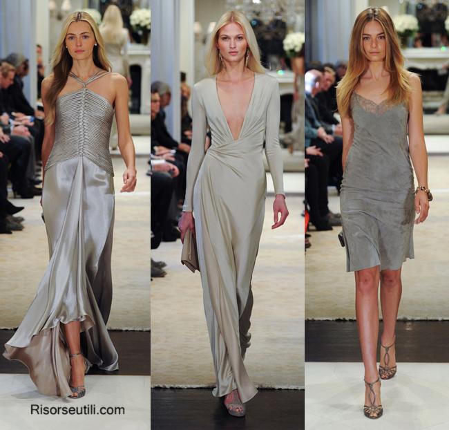 Fashion show dresses Ralph Lauren fall winter 2014 2015