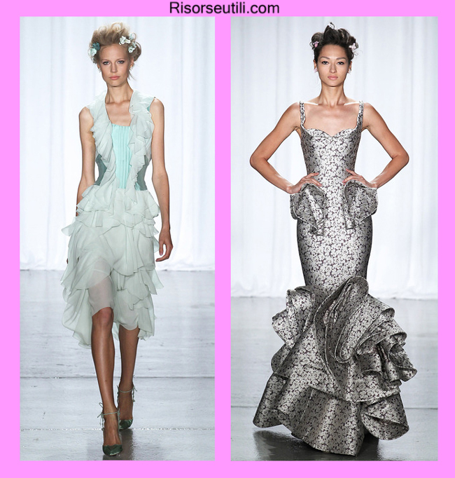 High fashion dresses Zac Posen summer 2014 for women