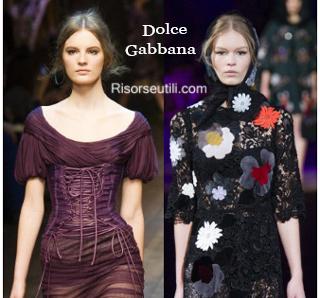Fashion Dolce Gabbana fall winter 2014 2015 womenswear