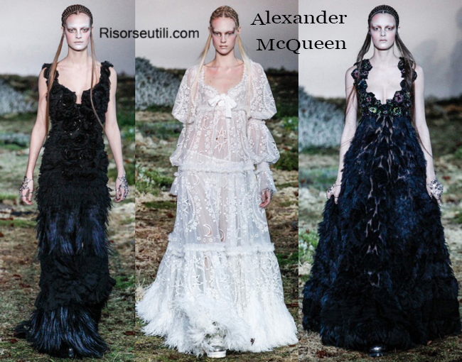 Fashion clothing Alexander McQueen fall winter 2014 2015