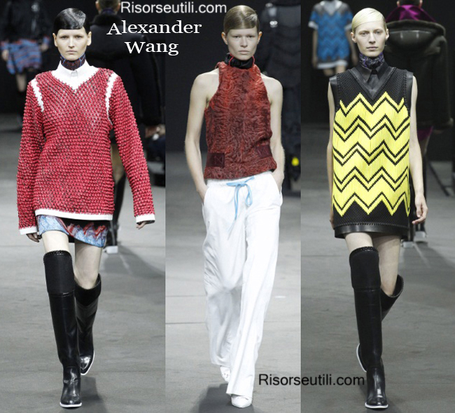 Fashion clothing Alexander Wang fall winter 2014 2015