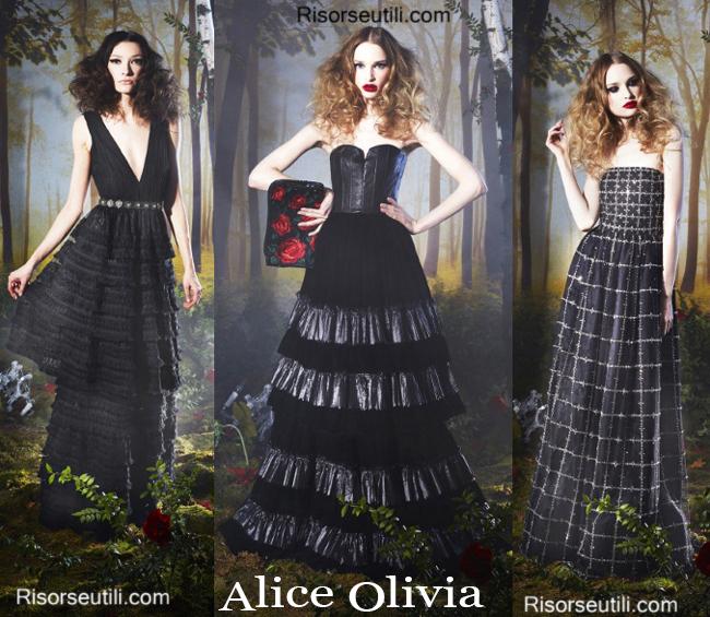 Fashion clothing Alice Olivia fall winter 2014 2015