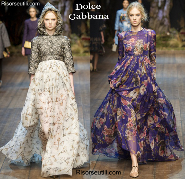 Fashion clothing Dolce Gabbana fall winter 2014 2015