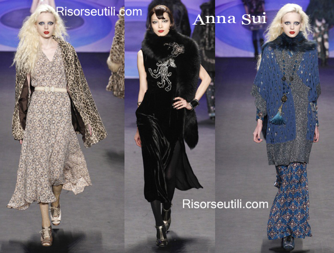 Fashion clothing Anna Sui fall winter 2014 2015