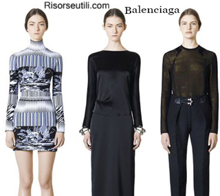 Fashion clothing Balenciaga fall winter 2014 2015 womenswear