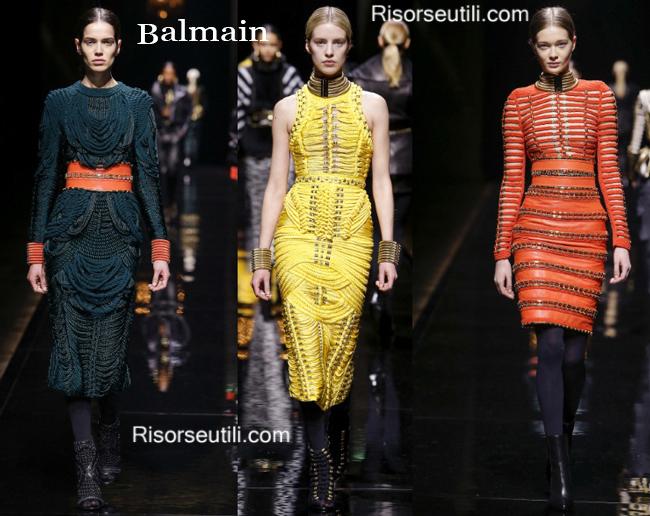 Fashion clothing Balmain fall winter 2014 2015