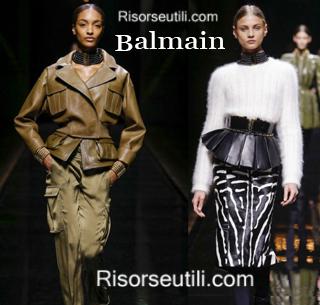 Fashion clothing Balmain fall winter 2014 2015 womenswear