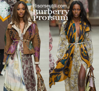 Fashion clothing Burberry fall winter 2014 2015 womenswear