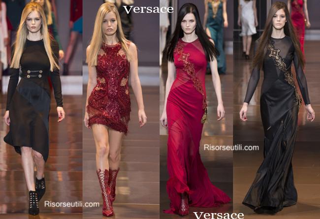 Fashion clothing Versace fall winter 2014 2015