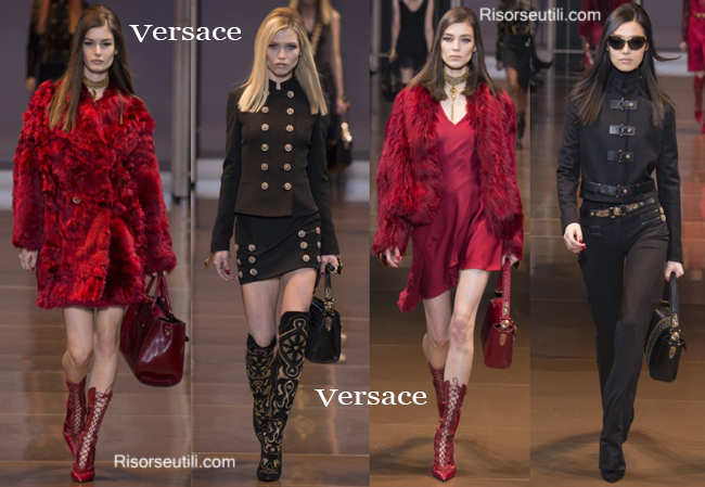Fashion handbags Versace and shoes Versace