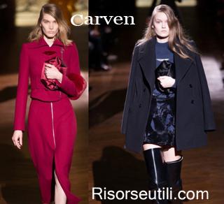 Fashion clothing Carven fall winter 2014 2015 womenswear