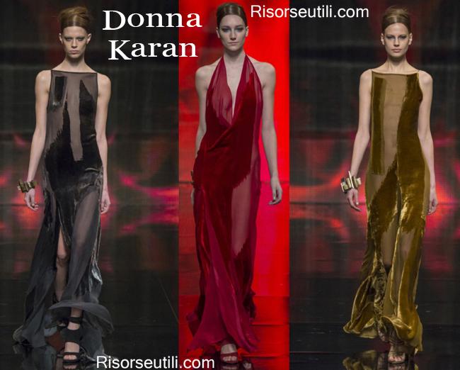 Fashion clothing Donna Karan fall winter 2014 2015