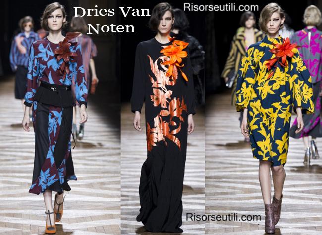 Fashion clothing Dries Van Noten fall winter 2014 2015