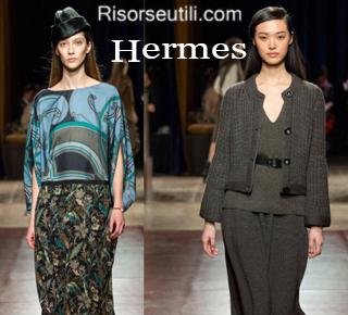 Fashion clothing Hermes fall winter 2014 2015 womenswear