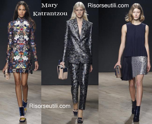 Bags Mary Katrantzou and shoes Mary Katrantzou