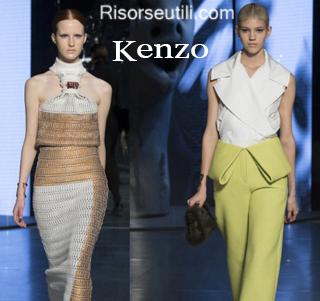 Fashion clothing Kenzo fall winter 2014 2015 womenswear