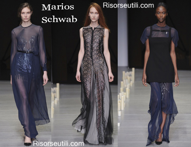 Fashion clothing Marios Schwab fall winter 2014 2015
