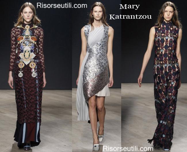 Fashion clothing Mary Katrantzou fall winter 2014 2015