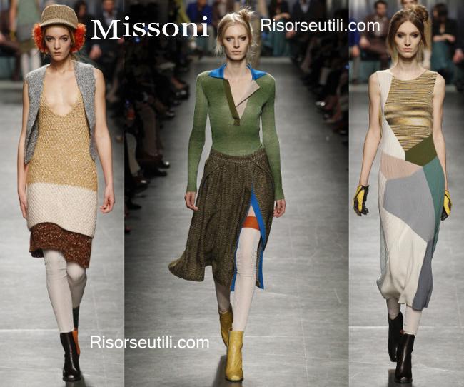 Fashion clothing Missoni fall winter 2014 2015