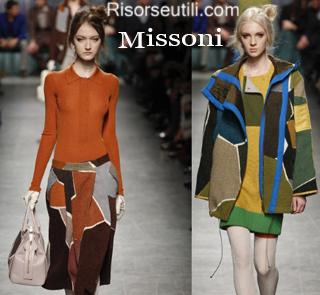 Fashion clothing Missoni fall winter 2014 2015 womenswear