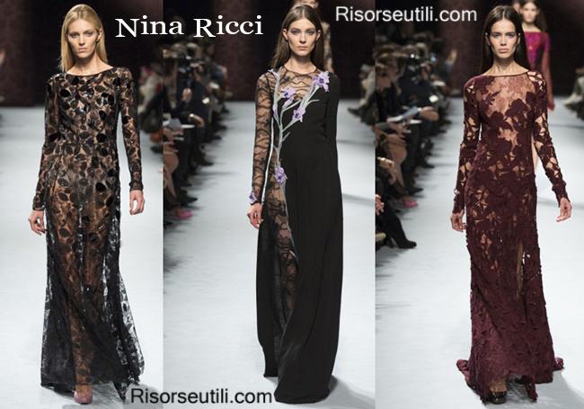 Fashion clothing Nina Ricci fall winter 2014 2015