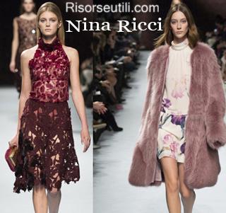 Fashion clothing Nina Ricci fall winter 2014 2015 womenswear