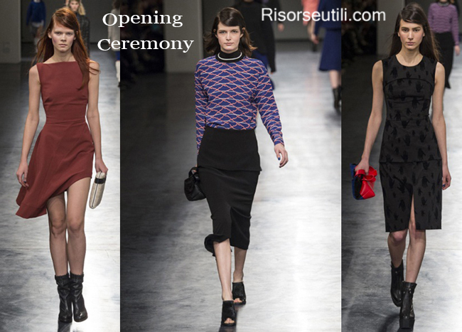 Fashion clothing Opening Ceremony fall winter 2014 2015
