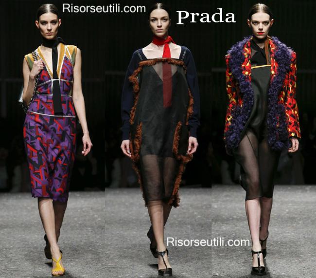 Fashion clothing Prada fall winter 2014 2015
