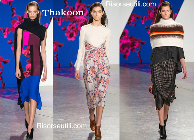Fashion clothing Thakoon fall winter 2014 2015