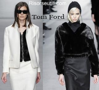 Fashion clothing Tom Ford fall winter 2014 2015 womenswear