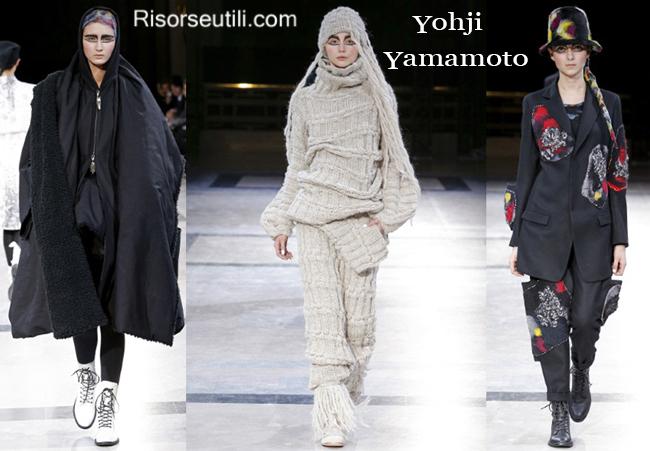 Fashion clothing Yohji Yamamoto fall winter 2014 2015