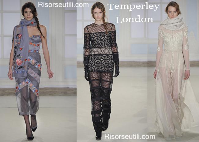 Fashion dresses Temperley London fall winter 2014 2015