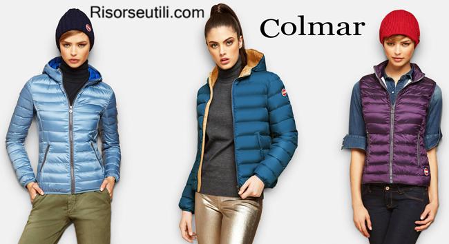 Down short jackets Colmar fall winter womenswear