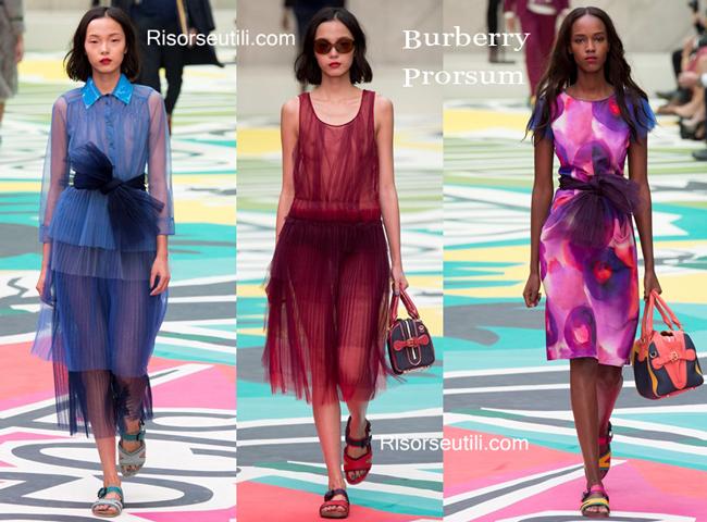 Fashion dresses Burberry Prorsum spring summer
