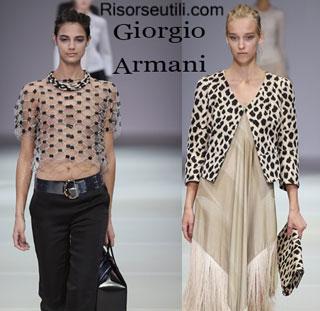 Dresses Giorgio Armani spring summer 2015 womenswear