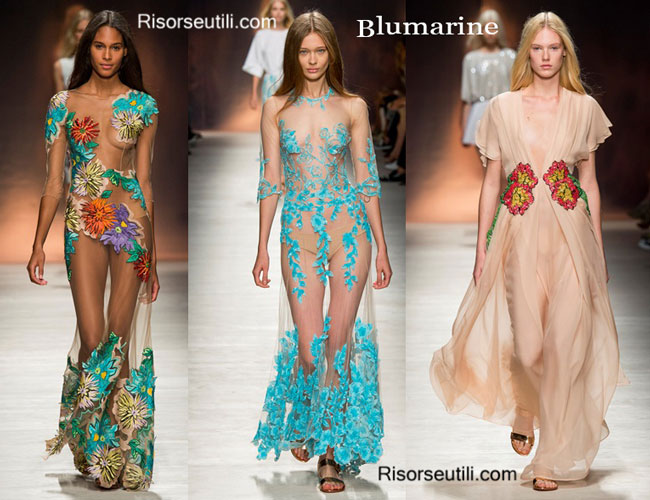 Fashion dresses Blumarine spring summer 2015
